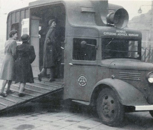 Citizens Advice Bureau in horse box during the war website image