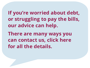 debt advice speech bubble